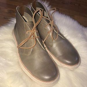 FRYE gates chukka brown leather shoes men's size 9